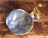 Branches Needle Felted Decorative Bowl, Fiber Art, Soft Sculpture, Objet D'Art