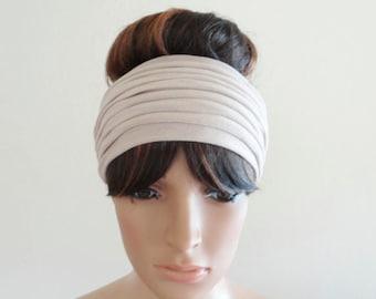 Ivory Headband. Ivory Head Wrap