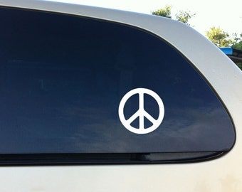 Peace Sign Car Decal vinyl Wall Sticker Set of 2