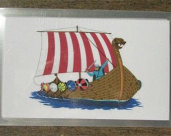 Elder Futhark Rune Cards; Pocket Size Viking Ship Design