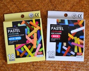36 colours Chalk Pastel: Basic, Fluorescent, & Auxiliary Colors