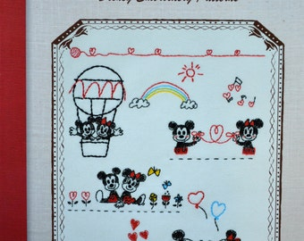 CUTE Disney Embroidery Patterns - Japanese Craft Book