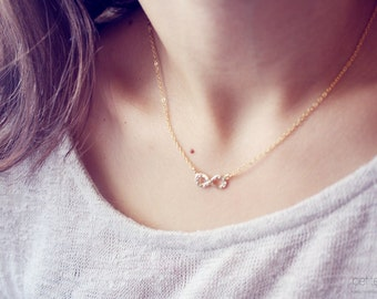 infinity friendship delicate necklace - dainty minimalist gold jewelry / gift for her