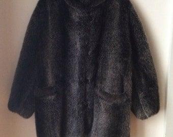 Faux Fur Bomber Coat Size Large