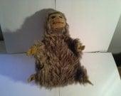 Vintage Norah Wellings Made in England  Furry Monkey baby bottle holder ( no bottle )