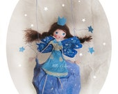 Fairy stars- paper mache fairy- mobile for kids-