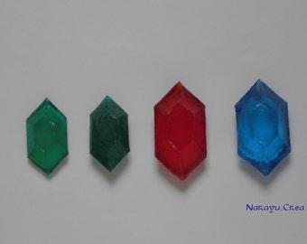Hyrule money (rupee) set of 7 jewels together
