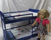 """Blue Bunk Bed For The American Girl Doll and All 18"""" Dolls"""