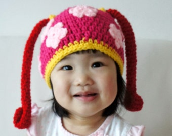Milli Hat, Team Umizoomi Hat, Crochet Baby Hat, Baby Hat, Animal Hat, photo prop, Inspired by Team Umizoomi