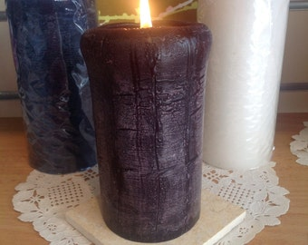 Pillar Candles - Rustic handmade long burn candles- choose you colour  - solid colour