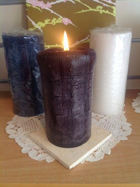 Pillar Candles Rustic handmade long burn candles choose you