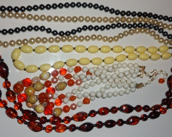 Beaded necklace necklace jewelry lot*