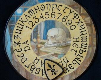 """Ouija board - Spirit board - Talking board """"Dark Sorcery"""" / Any Alphabet & Free Shipping"""