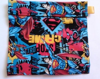 Superman Reusable Sandwich Bag