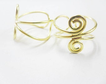 10 pcs. Brass Adjustable Ring Findings