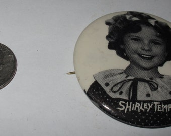 Vintage Collectible Button shirley temple