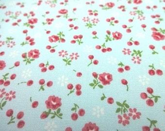 Japanese Fabric Little Flower Light Blue  FQ