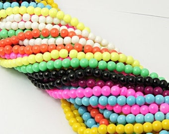 Bulk Beads Assorted Colors Wholesale Beads Glass Beads 20 Strands 1400 pieces 12mm PREORDER