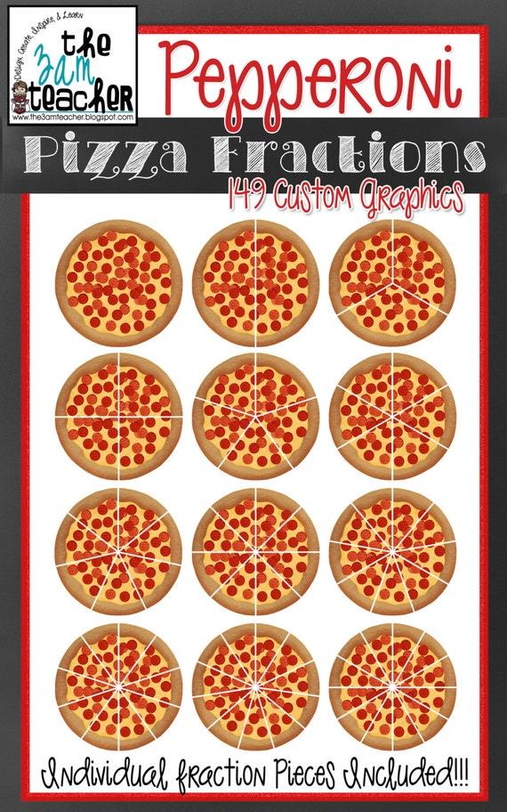 Fractions pizza worksheet