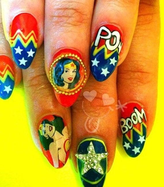 Red Hot Wonder Woman Nail