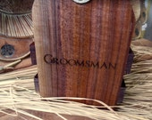 Set of SIX Groomsmen Beer Totes Custom Made and Personalized