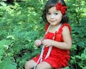 Petti Romper - Lace Romper - Red Romper - Girls Romper - Baby Romper - Ruffle Romper - Lace Dress - Baby Outfit