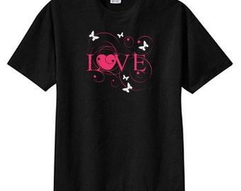 Love Butterflies New T Shirt, S M L XL 2X 3X 4X 5X