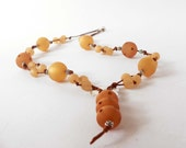 Necklace with topaz polaris beads and swarovsky element. Handmade necklace ooak made in Italy.
