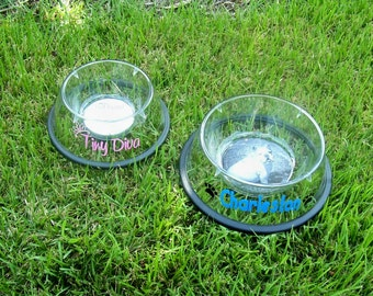 Clear Acrylic Pet Photo Bowl