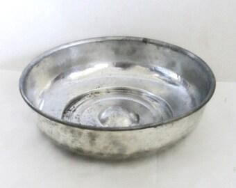Vintage COPPER tin bowl, Simplistic minimalist, Turkish bath house, Unusual large size Porringer, Oriental home decor, bathroom bath display