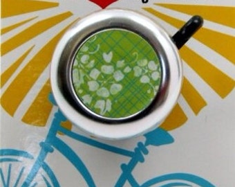 Green Floral Bike Bell