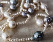 TAHITIAN PEARL NECKLACE - Black Pearl Necklace.