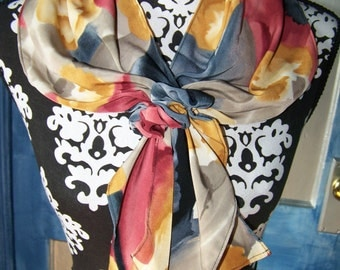 Vintage Womens Scarf 80s