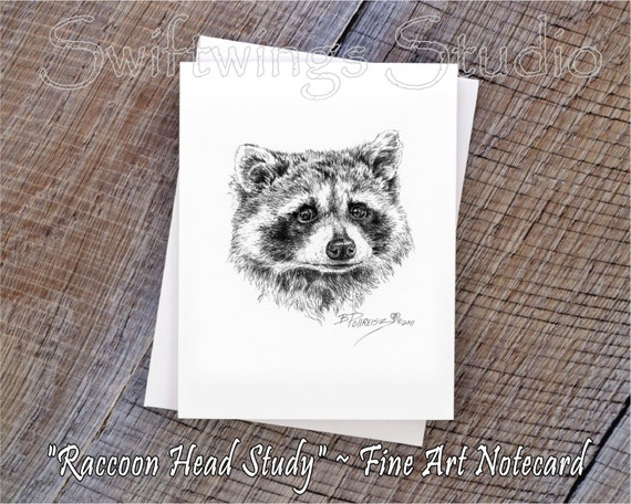 Wildlife Note Cards - Raccoon  Note Cards - Animal Note Cards - Wildlife Greeting Cards - Raccoons - Animal Note Cards - Wildlife Stationary