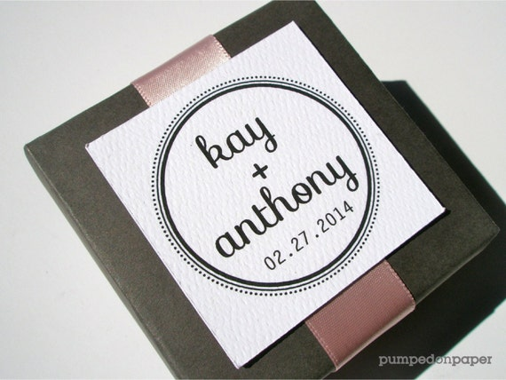 Personalized Wedding Gift Tag Stickers : square gift tags - personalized - wedding favor tags - 2.25