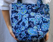 Quilted Purse - Quilted Handbag/Tote - Blue