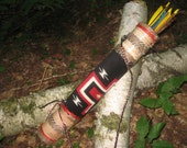 BirchBark Rover NEW Wakinyan Thunderbolt Archery Quiver with Matching 550 Paracord Strap
