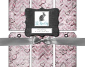 """Valentines Day Digital Printable Tags Set- Digital Instant Download - 6 (2.13"""" x 4.25"""") Tags on 5 Different  (8.5 """"x 11"""") Sheets - JPG Files"""