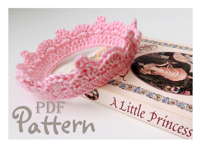 Free Crochet Pattern For Newborn Tiara : PDF CROCHET PATTERN Make It Yourself: by NorthernCottageGifts