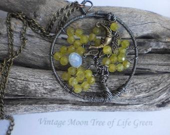 Vintage Moon Tree of Life
