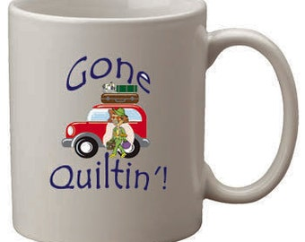 Gone Quilting Coffee Cup