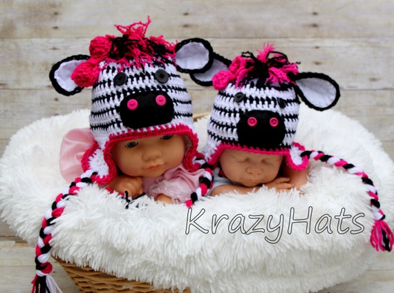 Crochet Zebra Hat : Crochet Zebra hat. by KrazyHats1 on Etsy