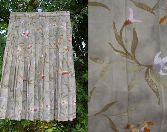 Jaeger Midi-Length Floral High-Waisted Skirt