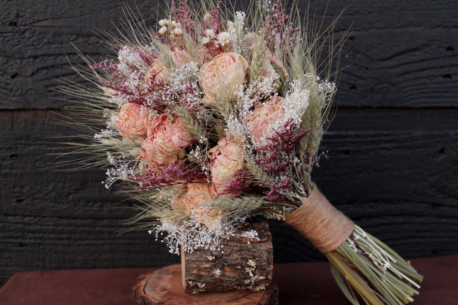 romantic rustic wedding bouquet medium bridal bouquet
