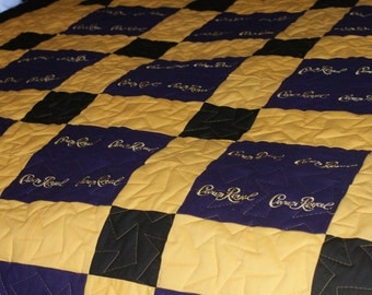 Crown Royal Quilt Blanket Made to Order (You pick the size and pattern)