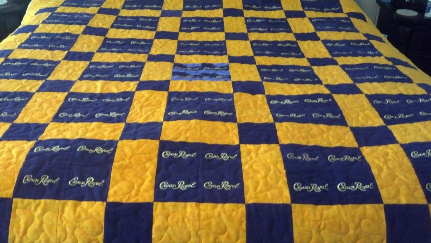 Quilt Patterns For A Man : Crown Royal Quilt Custom Made to Order Crown by LuluBelleQuilts