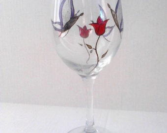 Hand Painted Wine Glasses - Butterfly