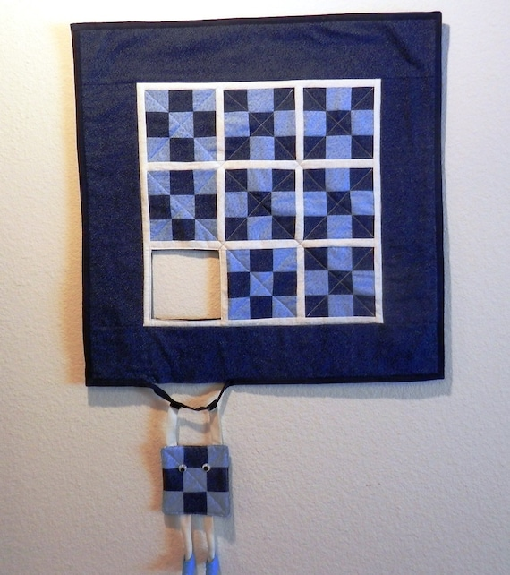 Escaping Block Quilted Wall Hanging Free Shipping