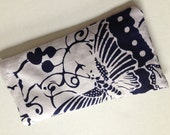 Organic Blue and White Batik Print Aromatherapy Eye Mask or Heating Pad With Lavender and Rosemary