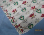 Dutch Hearts Bark Cloth-like Fabric